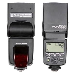 YN568EX Wireless Slave TTL Flash Speedlite Speedlight with HSS 1/8000 for Canon 550D 600D 5DII 5DIII 650D (ETTL / i-TTL, M, Multi Mode)