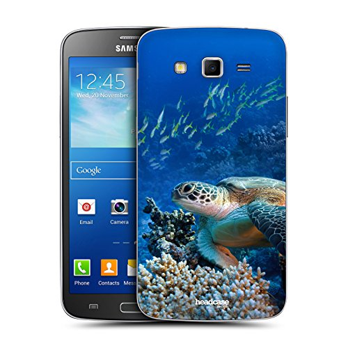 Head Case Designs Sea Turtle Sitting On Coral Reef Wildlife Replacement Battery Back Cover for Samsung Galaxy Grand 2 G7102 G7105