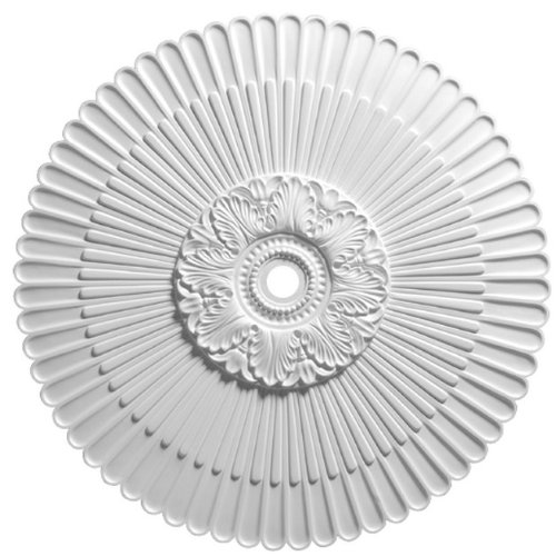 Focal Point 36 Inch Diameter Ceiling Medallion 80236 Antiquity Sunburst Primed White Polyurethane