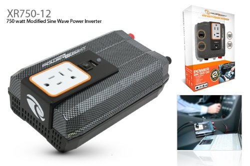 Power Bright XR750-12 750 Watt 12 Volt DC To 110 Volt AC Power Inverter With USB Charging Port
