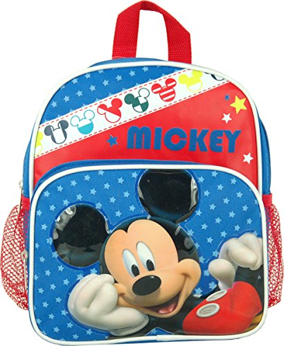 """Disney Mickey Mouse Toddler Mini 10"""" Backpack front-628302"""