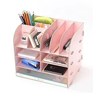 Fashion cute diy paper board storage box desk - Cute desk organizer ...