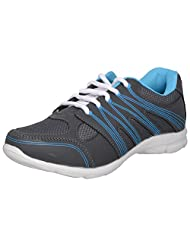 Acto Grey & Blue Synthetic SPorts Shoes For Women