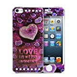 Kitspree 3d Relief Metal Sticker for Apple Iphone 5/5s with Front Screen Protector and Front & Back Metal Sticker-love in the Moment