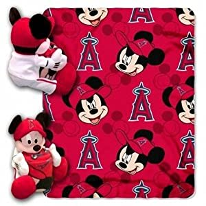 Los Angeles Angels Of Anaheim Disney Hugger Blanket by Hall of Fame Memorabilia