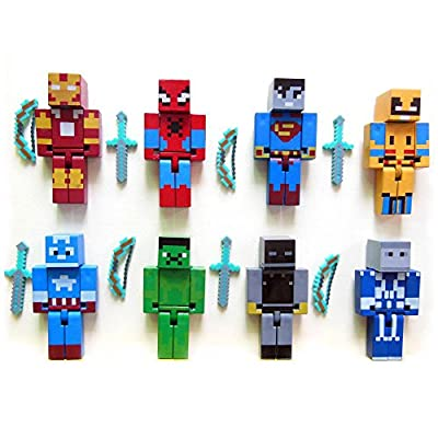 New Arrival Kids Toy 8pcs/lot Avengers Building Blocks Assembly Toy Compatible Action Figures Gift Figures Toy from New