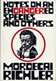 Notes on an Endangered Species (0394489691) by RICHLER, Mordecai