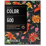 Impossible - 3288 - pellicule couleur pour Appareil Polaroid type 600 - cadre motif floral Hibiscus - 8 feuilles par boîte