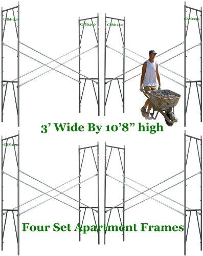 4 Set Scaffolding 3' X 10'8