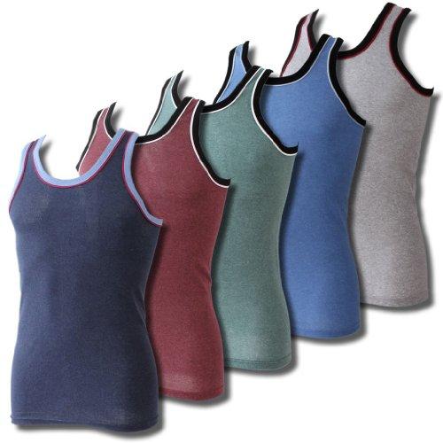 Lavazio® 6er Pack Herren Unterhemden Achselhemden Sporthemden