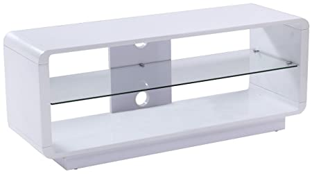 Alphason Luna ADLU1200-WHT High Gloss White TV Stand