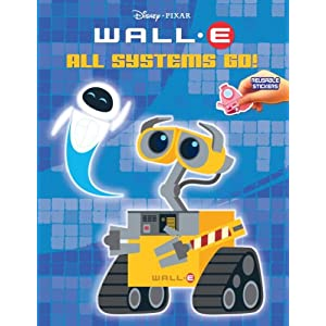 All Systems Go Wall-E Reusable Sticker Book!