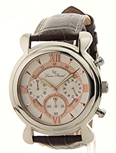 Lucien Piccard 28168SL Mens Lucien Piccard Professional Leather Chronograph Watch