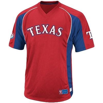 MLB Texas Rangers Men's True Winner Crew Polo, Red/Royal