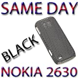 BRAND NEW HYBRID PLASTIC BACK COVER NOKIA 2630 BLACK UK