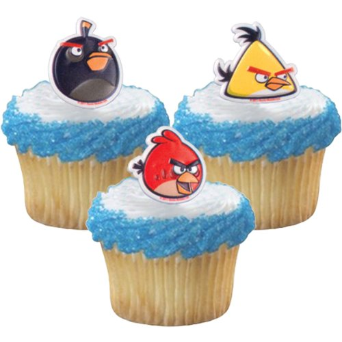 For Sale! Angry Birds Cupcake Rings - Birthday Party Favors - 12ct