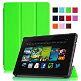 "Fintie Amazon All New Kindle Fire HD 7"" SmartShell Case Cover Ultra Slim Lightweight with Auto Sleep / Wake Feature - Green (will only fit All New Kindle Fire HD 7 2nd Generation 2013 Model)"