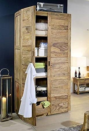 De madera maciza de Sheesham madera tratada con aceite para muebles de armario ropero de colour marrón y beige de los muebles de madera maciza de pino De colour marrón #501