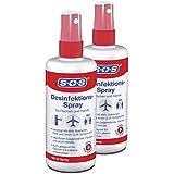 SOS Desinfektions-Spray 100 ml (2er Pack) - für Hände und Flächen