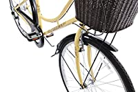 """Ammaco Classique Traditional Dutch Style Classic Heritage Ladies Lifestyle Bike Basket 19"""" Frame Dutch Style Cream by AMMACO"""