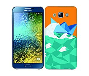 Galaxy Printed 2539 Orgami Boat Hard Cover for Samsung A7