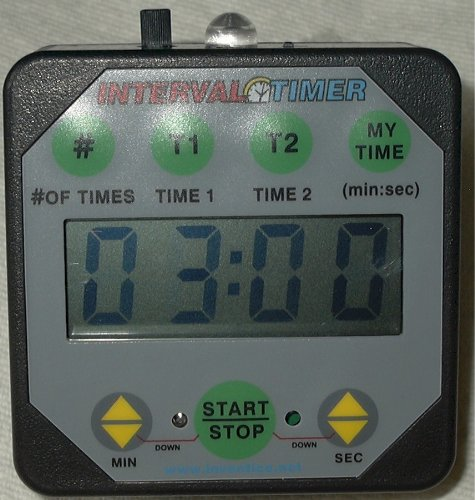 Interval Workout Timer TMR05-B Black with Loudness Control: Boxing, Wrestling, Martial Arts, MMA, HIIT, Endurance, Strength, Fitness