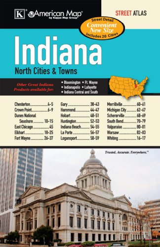 Indiana State North Cities & Towns Street Atlas