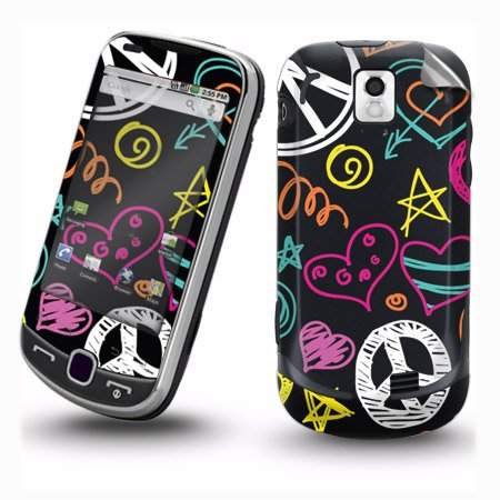 Smart Touch Peace Love Design Protective Skin Decal Vinyl Sticker For Samsung Intercept M910