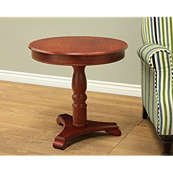 Frenchi Home Furnishing Round Table in Walnut Finish, Brown