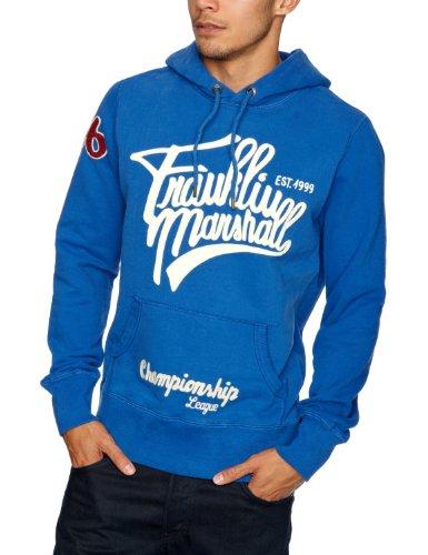 Franklin & Marshall Men's Fleece Sweater Flmr198W12 Jacket Blue (Brooklyn Blue) 58/60