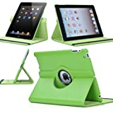 SANOXY 360 Degrees Rotating Stand Leather Smart Cover Case for Apple iPad 2, iPad 3, iPad 4 with wake/sleep capability