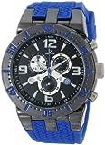 Joshua & Sons Men's JS55BU Swiss Chronograph Blue Metal Sport Watch