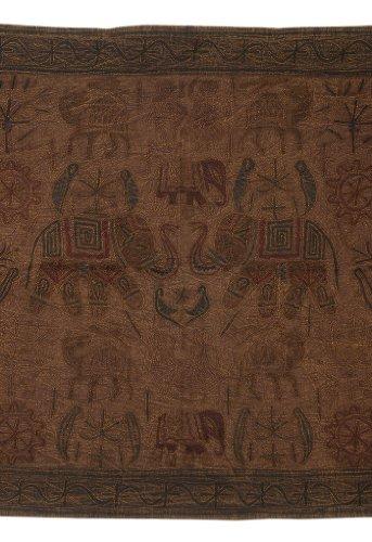 Imagen 1 de Algodón bordado hecho a mano tapiz Tapiz Decor Tamaño 33 x 60 pulgadas