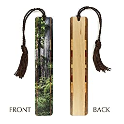 Redwoods - Old Growth at Redwood National Park, WA - Photograph Color Wooden Bookmark with Tassel