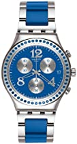 Swatch Secert Thought Blue Chronograph Blue Stainless Steel Mens Watch YCS553G