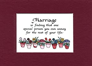 ... Funny Saying Home Wall Decor Humorous Wedding Gift - Decorative