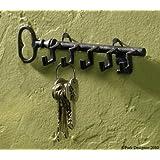 Key Shaped Key Hook Rack Antiqued Look