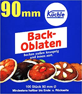 Kuchle Back-Oblaten (Round Baking Wafers, 90-mm), 5-Count Boxes (Pack of 5)