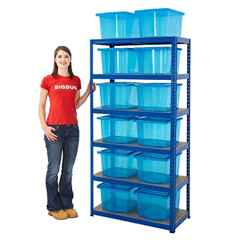 garage-shelving-bay-with-30-litre-plastic-boxes-5-tier-up-to-265kg-udl-home-storage-shelving-with-12
