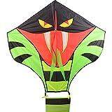 Lightaling Large Power Snake Cobra Kites with Flying Line Outdoor Fun Sports Kite