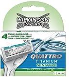 Wilkinson Sword Quattro Titanium Sensitive Razor Blades - Pack of 4 Blades