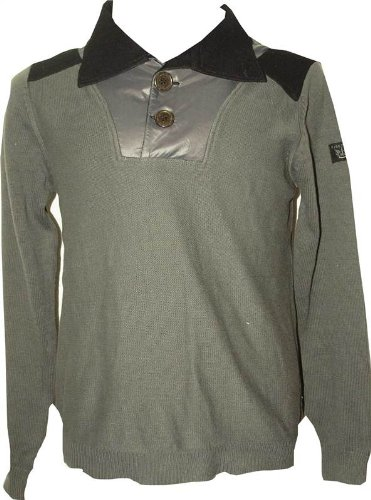 NEW MENS FIRETRAP APPEAL SWEAT CHARCOAL JUMPER - MEDIUM FT4