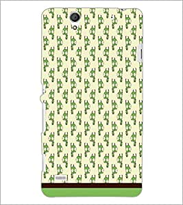 PrintDhaba Cartoon pattern D-1880 Back Case Cover for SONY XPERIA C4 (Multi-Coloured)