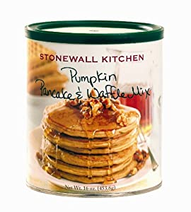 Stonewall Kitchen Pumpkin Pancake and Waffle Mix, 16-Ounces  Canister  (Pack of 4)