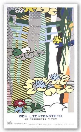 Water Lilies with Japanese Bridge de Roy Lichtenstein Tirages d'Art Poster