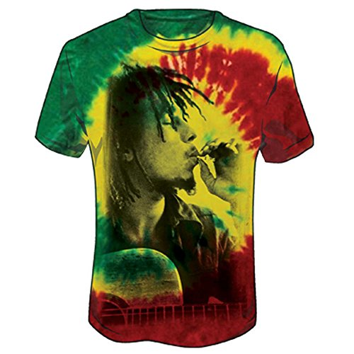 Bob Marley Men's Rasta Smoke Tie Dye T-shirt Tie-Dye S (Tie Dye Shirt Marley compare prices)