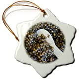 3dRose orn_81569_1 Cuisines, Black Caviar, Gironde, Aquitaine, France EU09 PKA0570 Per Karlsson Snowflake Porcelain Ornament, 3-Inch