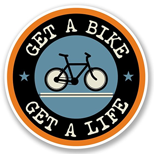 Bike Cycle Vinyl Stickers 2 pack 4 INCH (Upright Stand For Ps3 compare prices)