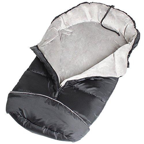tectake-universal-fit-thermo-winter-footmuff-pram-child-baby-car-seat-sleeping-bag-cosy-toes-black