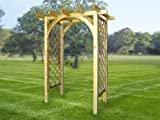 NEW! HORIZAN ARCH trellis arbor tall for flowers wooden